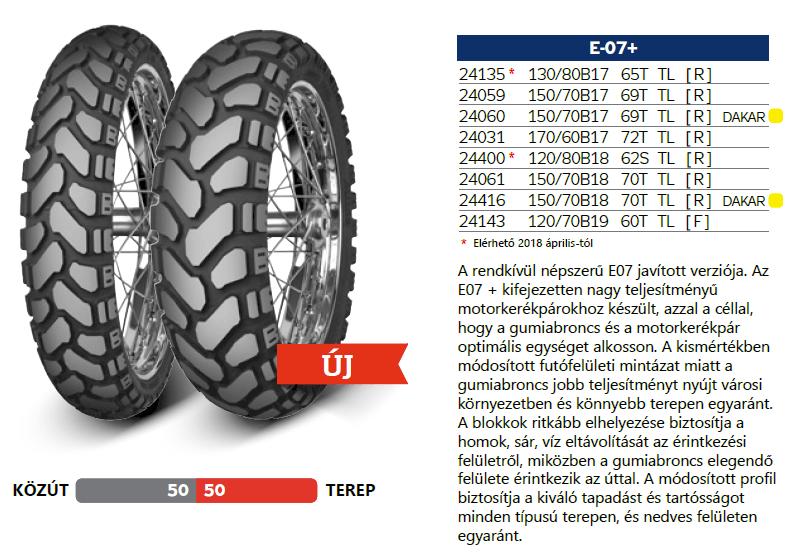 Mitas E07+ enduro gumi